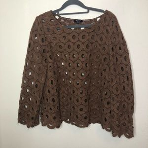 Worth Brown Circles Top Size Large